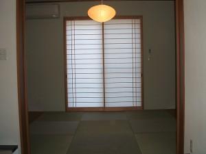 半帖畳市松模様の和室