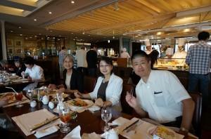帝国ホテル サルーにて 筑井様と社長