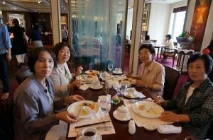帝国ホテル サルーにて 清田様たち