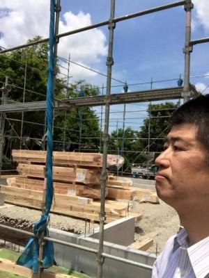 材料搬入と先行足場 昌人入り480640