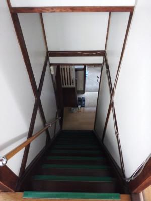⑤既存階段を上から見る