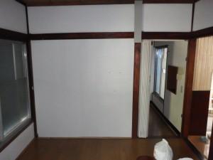 ④既存キッチンとリビンク壁゙