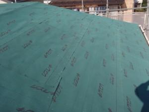 屋根下地材敷き込み