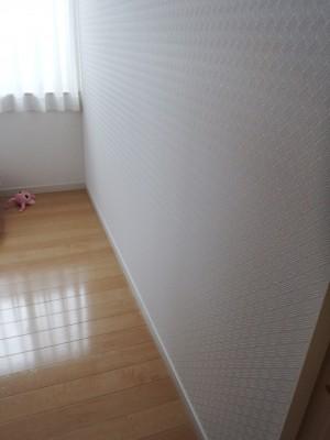 子ども部屋に間仕切り壁施工