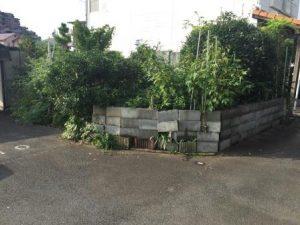 既存の植木のスペース