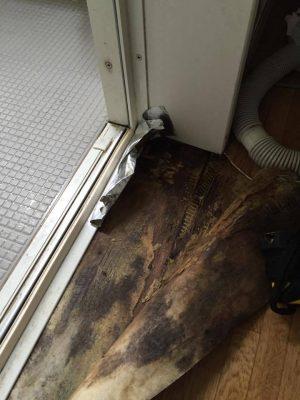 水漏れによる床の腐植