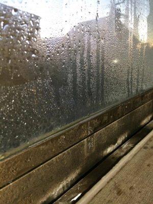 東側窓結露状態