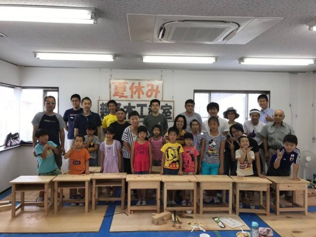夏休み親子木工教室