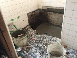 浴室リフォーム 浴槽交換 お風呂の床タイル貼り替えリフォーム