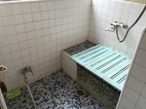 浴室リフォーム 浴槽交換 床タイル貼り替え