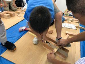 木工教室 夏休み親子木工教室 木工教室ふじみ野 イス作り